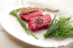 Tenderloin with herbs Royalty Free Stock Photography