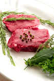 Tenderloin with herbs Royalty Free Stock Photos