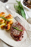 Tenderloin with potatoes Royalty Free Stock Photography