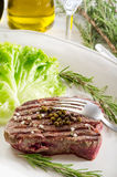 Tenderloin with salad Stock Photography