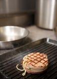 Tenderloin steak on grill Royalty Free Stock Photo