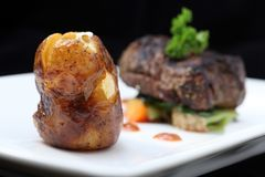 Tenderloin steak portion Royalty Free Stock Image