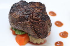 Tenderloin steak portion Stock Photos