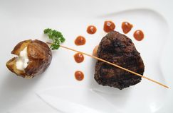 Tenderloin steak portion Stock Photo