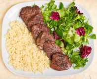 Tenderloin steaks in wine souce Royalty Free Stock Image