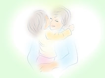 Tenderness. Ma embraces its loved child Royalty Free Stock Photography