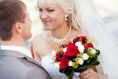 Tenderness of a couple Royalty Free Stock Photography
