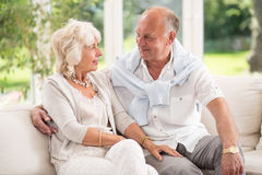 Tenderness in old age Royalty Free Stock Image