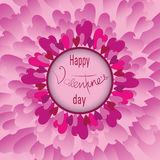 Tenderness. Pink flower of hearts Royalty Free Stock Photos