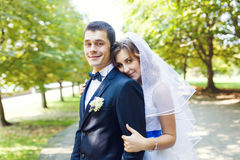 Tenderness wedding couple Royalty Free Stock Photos