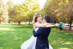 Tenderness wedding couple Royalty Free Stock Photo