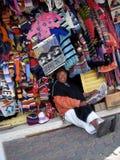 Tendero en Ecuador Fotografía de archivo