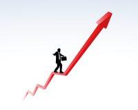 Tendência ascendente e carreira Imagem de Stock Royalty Free