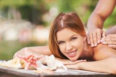 Tendo a massagem fotografia de stock