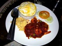 Tendo o almoço/jantar Foto de Stock