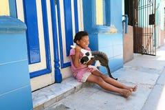 Tendo o divertimento em Cuba Imagem de Stock