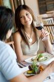 Tendo o jantar Fotos de Stock Royalty Free