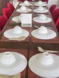 Tendo a tabela do almoço Foto de Stock