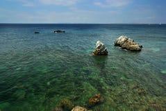Tendo um banho no mar Foto de Stock Royalty Free