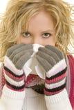 Tendo um frio Foto de Stock Royalty Free