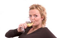 Tendo uma bebida Imagem de Stock