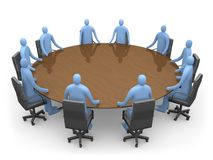 Tendo uma reunião Imagem de Stock