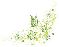Tendril, butterfly, flowers Stock Photography