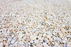 ?tendue du gravier blanc Image utile comme fond images libres de droits