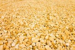 ?tendue du gravier orange Image utile comme fond photographie stock