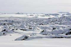 Tendurek Mountain and its volcanic terrain Stock Photo