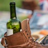 Tenedor de botella de vino imagen de archivo