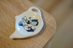 Tenedor de la bolsita de té Foto de archivo libre de regalías