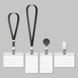 Tenedor de la etiqueta del nombre del acollador de la insignia Imágenes de archivo libres de regalías