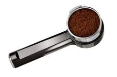 Tenedor de la máquina del café del café express Fotos de archivo libres de regalías