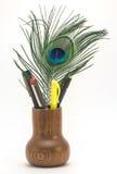 Tenedor de la pluma y del lápiz Fotografía de archivo