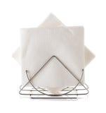Tenedor de la servilleta de tabla con la servilleta Fotografía de archivo