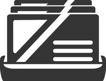 Tenedor de la tarjeta de visita - exhibición de los contactos Ilustración del Vector
