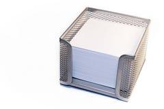 Tenedor de Notelet aislado en blanco Imagen de archivo