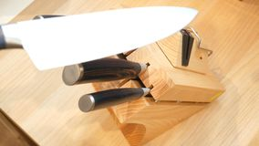 Tenedor del cuchillo almacen de video