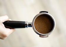 Tenedor del filtro del café express Fotografía de archivo libre de regalías