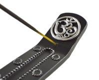 Tenedor del palillo de ídolo chino con la muestra del ohmio aislada Fotos de archivo