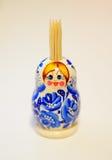 Tenedor del palillo de Matreshka Imagen de archivo libre de regalías