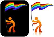 Tenedor gay del indicador stock de ilustración