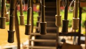 Tenedores de madera del paraguas Imágenes de archivo libres de regalías