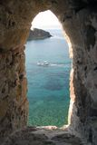 From Tenedos castles window Royalty Free Stock Photos