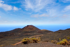 Teneguia volcano in La Palma Canary island Stock Photo