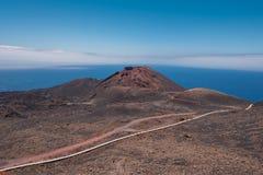 Teneguia wulkan w losu angeles Palmy wyspie, wyspy kanaryjska Obrazy Stock
