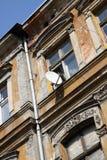 tenement антенны старый стоковая фотография