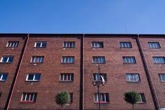 tenement красного цвета кирпича стоковое фото rf