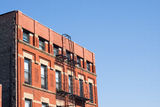 Tenement architecture, Chinatown, Chicago Stock Photography